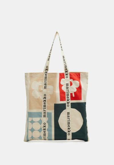 Marimekko CO CREATED IGELIN - Shopping bag - off white/green/red/luonnonvalkoinen - Zalando.fi