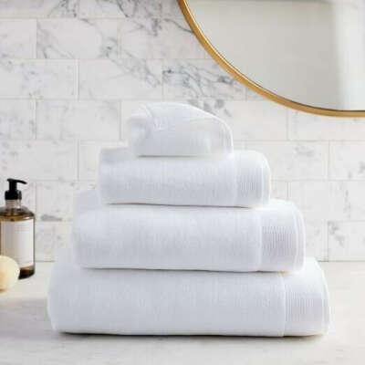 Белые полотенца как в отеле