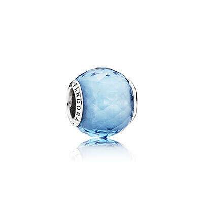 PANDORA   Шарм голубой (дополнить голубой браслет)
