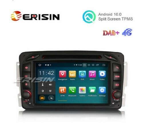 "Erisin ES5163C 7"" Android 10.0 Car DVD GPS Radio WiFi BT for Benz W463 W203 G-Class Viano Vito - Erisinworldwide"