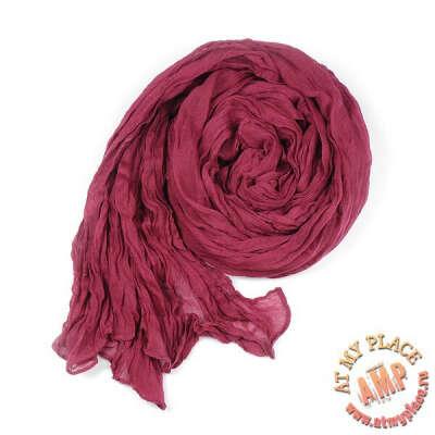 Бордовый шарф