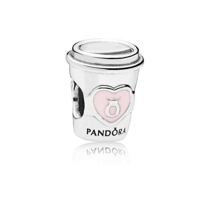 Pandora Шарм из серебра, украшенный розовой эмалью