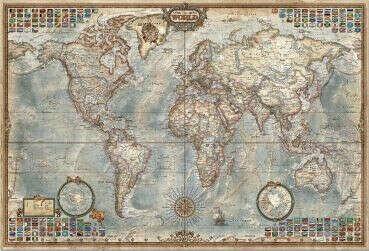 Пазл 4000 деталей: Политическая Карта Мира - купить большие пазлы Educa (14827) - 3000 - 6000 деталей - hobby-puzzle.ru