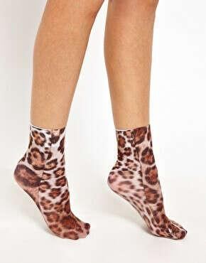леопардовые носки