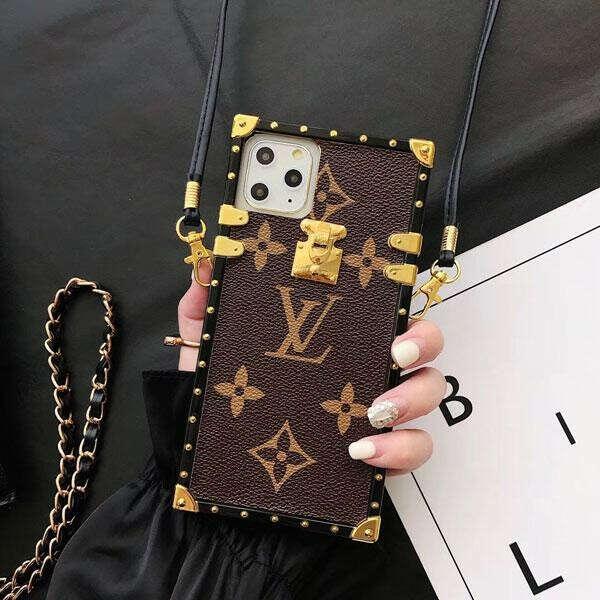 ブラント iphone11/11 pro/se2ケース ルイヴィトン アイフォン11 pro maxカバー iphone xr/xs maxケース 四角型 iPhone x/xsケース レーザー ストラップ付き