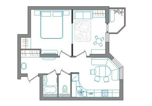 Своя квартира (2-3 комнаты)