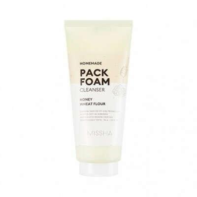 Missha Homemade Pack Foam Cleanser (Wheat Flour Honey Pack Foam)