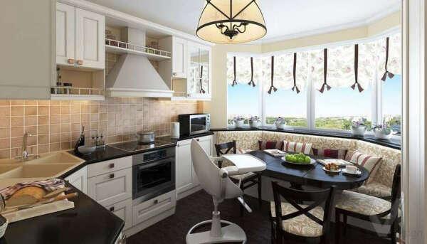 3-комнатная квартира с большой кухней
