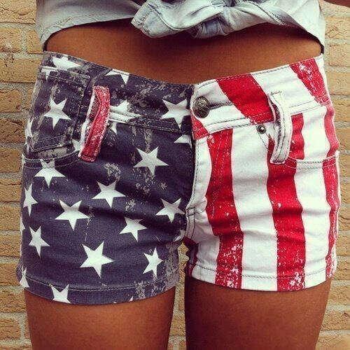 Шорты с флагом США